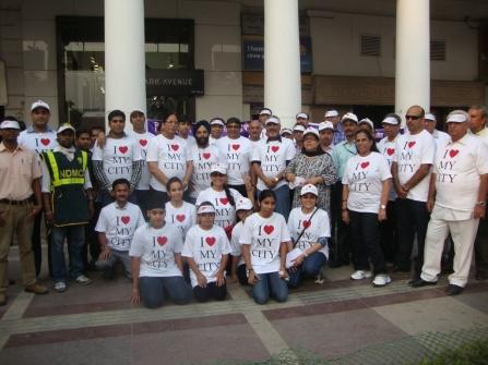 Volunteers at Connaught Place 2