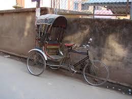 empty rickshaw